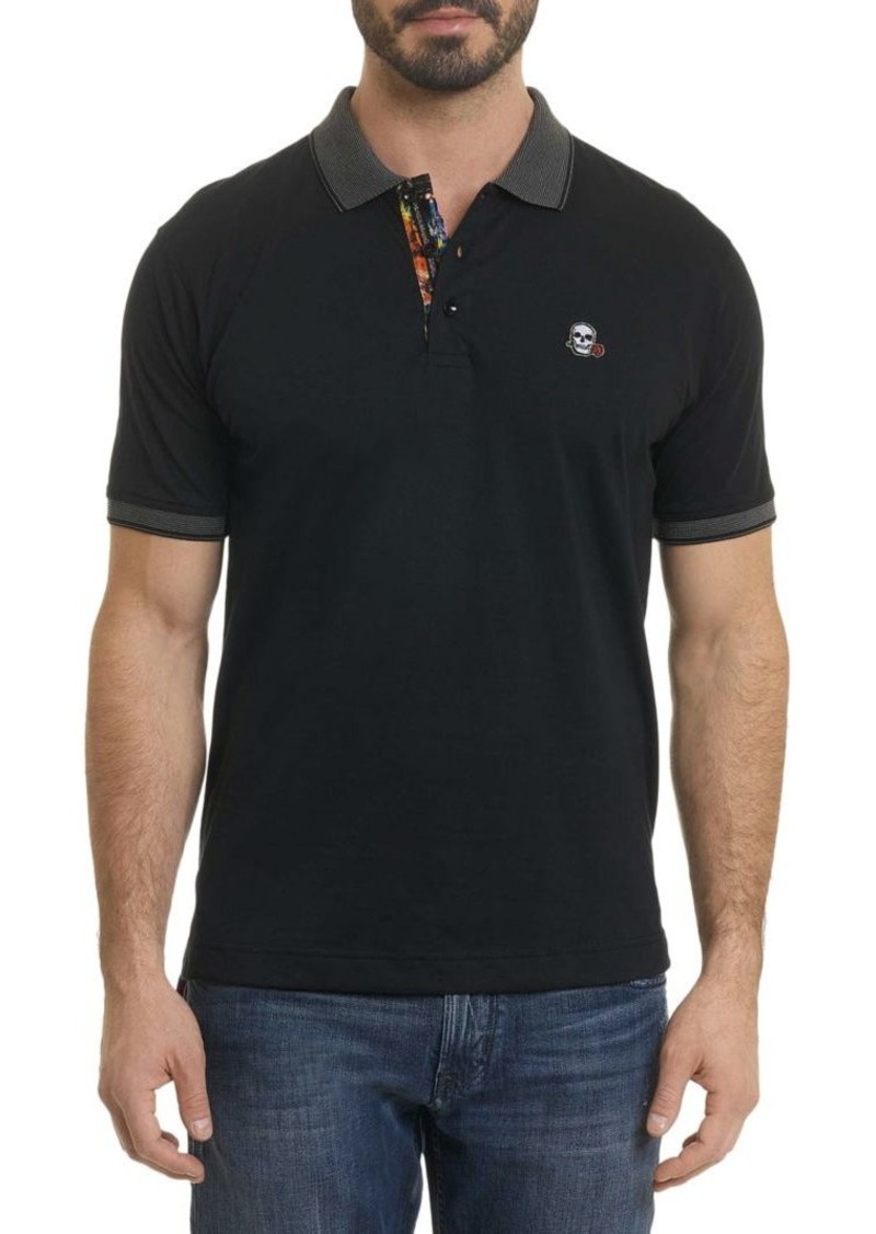 Robert Graham Easton Embroidered Skull Polo