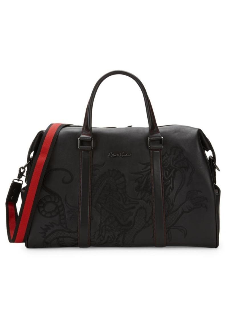 Robert Graham Embossed Leather Duffle Bag