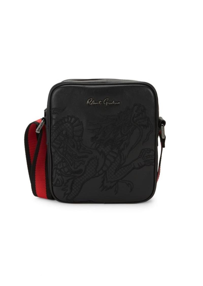 Robert Graham Embroidered Dragon Leather Crossbody Bag