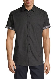 Robert Graham Equinox Tone-On-Tone Short-Sleeve Shirt