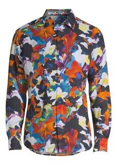 Robert Graham Fantasy Florals Linen Shirt
