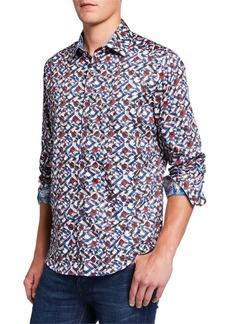 Robert Graham Faro Kaleidoscope Long-Sleeve Sport Shirt