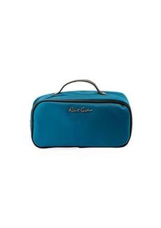 Robert Graham Faux-Leather-Trim Nylon Toiletry Bag