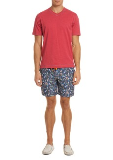 Robert Graham Gali Floral-Print Swim Trunks