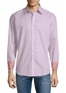 Robert Graham Garden Lake Cotton Button-Down Shirt