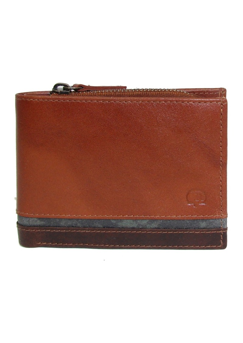 Robert Graham Gavras Leather Slim Fold Wallet