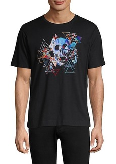 Robert Graham Geometric Skull Graphic Tee