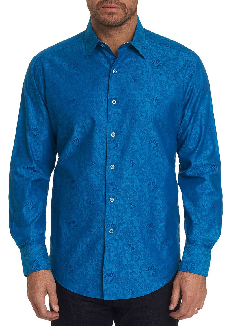 Robert Graham Greenhouse Floral-Print Button-Front Woven Shirt