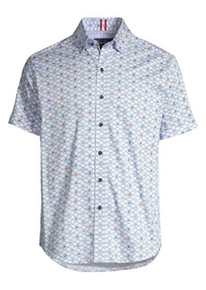 Robert Graham Hat Trick Short-Sleeve Print Shirt