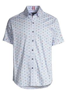 Robert Graham Hat Trick Short-Sleeve Print Shirt