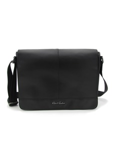 Robert Graham Hearst Black Magnetic Flap Messenger Bag