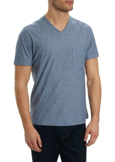 Robert Graham Heathered V-Neck Tee