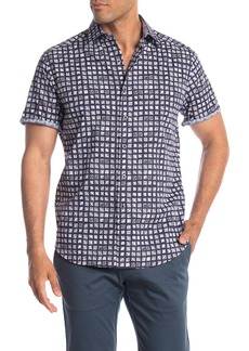 Robert Graham Hedden Square Print Short Sleeve Classic Fit Shirt