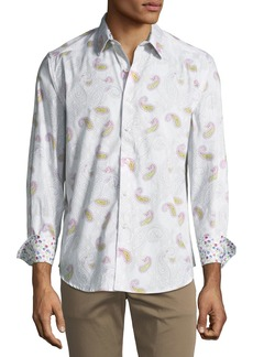 Robert Graham Hendon Classic-Fit Paisley Woven Sport Shirt
