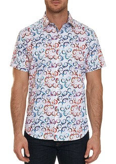 Robert Graham Holler Swirl-Print Short-Sleeve Sport Shirt