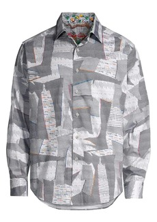 Robert Graham Iverson Cotton Print Shirt