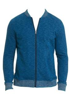Robert Graham Kaison Cotton Slub Zip-Front Knit