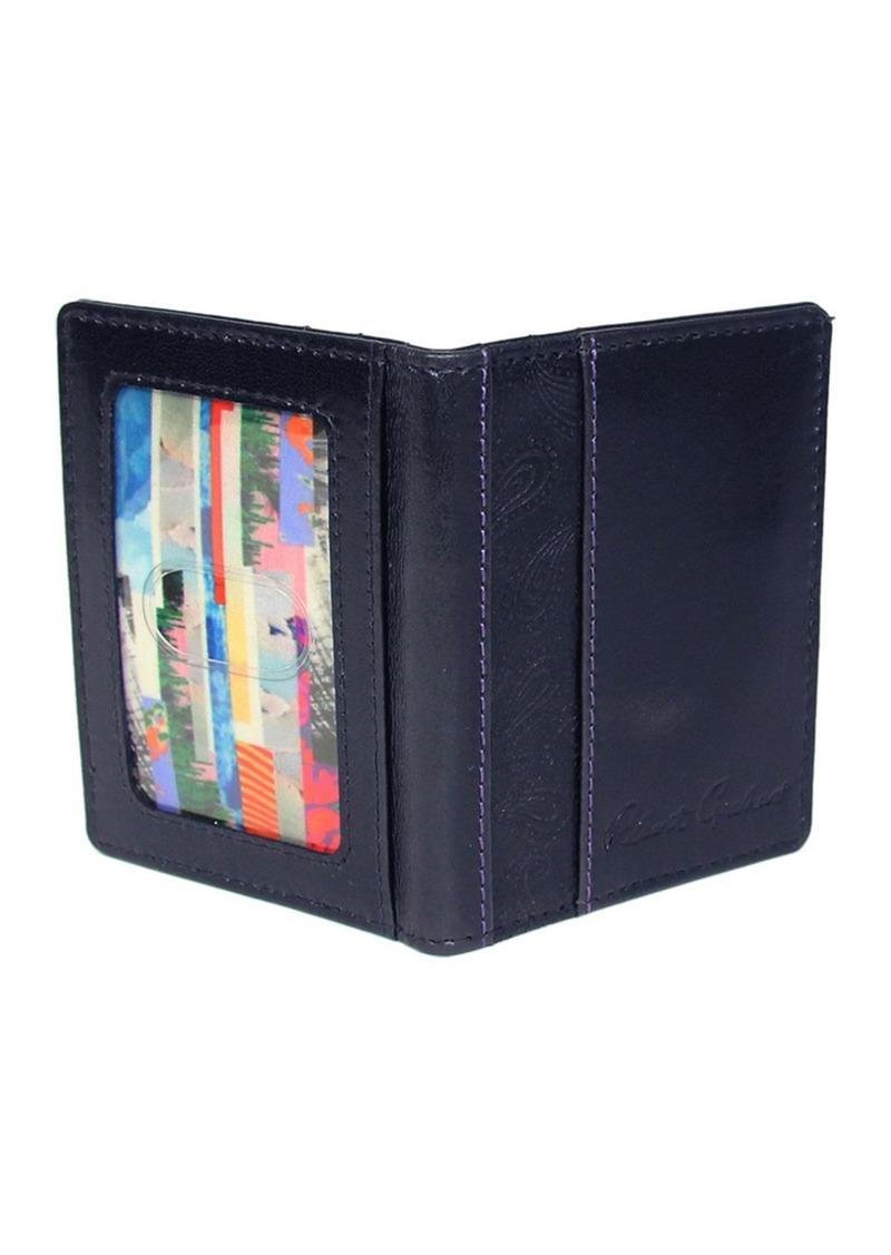 Robert Graham Kareen Paisley Embossed Leather Billfold Wallet