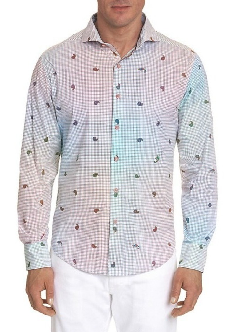 Robert Graham Karma Chameleon Printed Sport Shirt