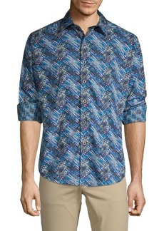 Robert Graham Keer Abstract Print Sport Shirt
