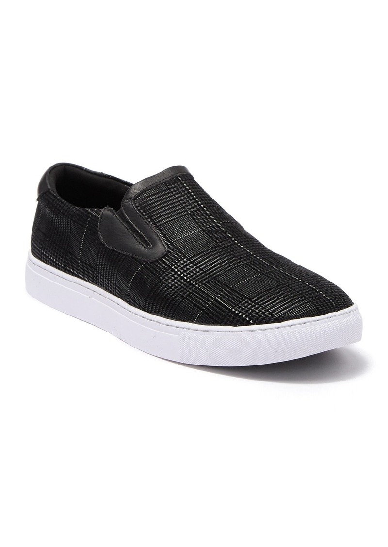 Robert Graham Kerby Printed Leather Slip-On Sneaker