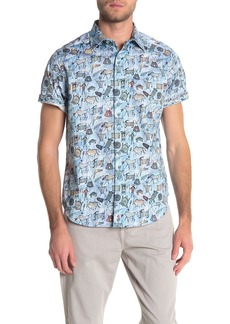 Robert Graham King Solomon Short Sleeve Tailored Fit Shirt