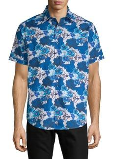 Robert Graham Knoboak Cotton Button-Down Shirt