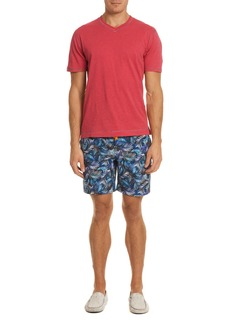Robert Graham La Pinta Palm Leaf-Print Swim Trunks