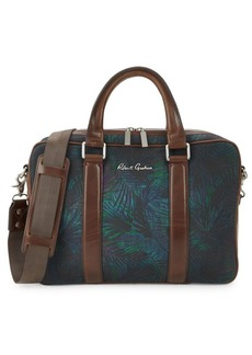Robert Graham Leaf-Print Cotton Messenger Bag