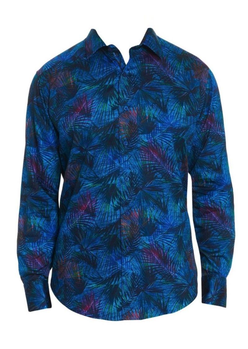 Robert Graham Leafy Dreams Botanical Button-Down Shirt