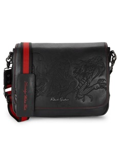 Robert Graham Logo Embossed Leather Crossbody Bag