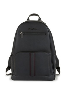 Robert Graham Logo Faux Leather Backpack