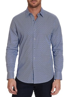 Robert Graham Long-Sleeve Geometric-Print Shirt