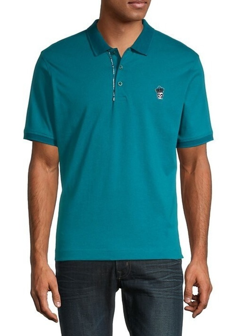 Robert Graham Lucifer Classic-Fit Skull-Embroidered Polo