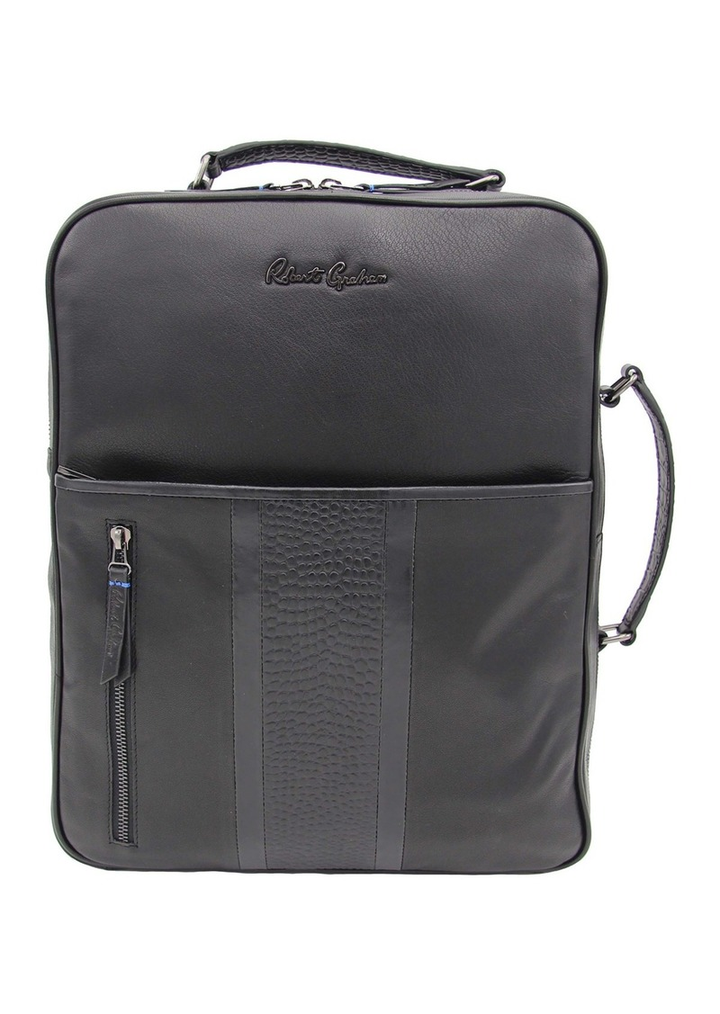 Robert Graham Marlo Croc Embossed Leather Backpack