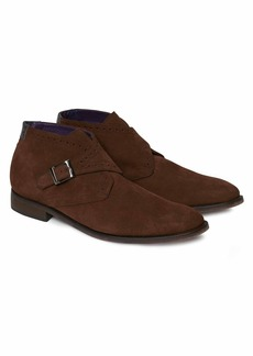 Robert Graham Marshall Suede Monk Strap Ankle Boot