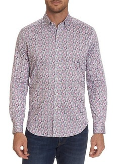 Robert Graham Medina Tailored-Fit Geometric Print Sport Shirt