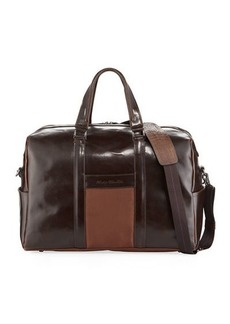 Robert Graham Men's Aegean Glossy Leather Weekender Bag
