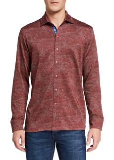Robert Graham Men's Agoda Printed Button-Down Knit Shirt