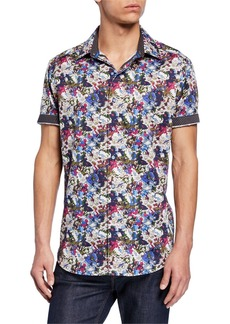 Robert Graham Men's Alberdeen Classic-Fit Graphic Short-Sleeve Sport Shirt