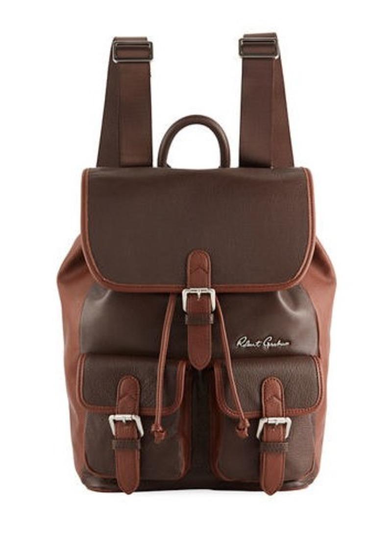 Robert Graham Men's Alondra Leather Rucksack Backpack