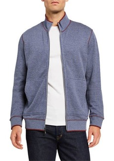 Robert Graham Men's Ando Zip-Front Knit Sweater