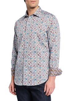 Robert Graham Men's Anemone Graphic Print Long-Sleeve Sport Shirt