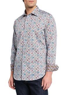 Robert Graham Men's Anemone Graphic Print Long-Sleeve Sport Shirt