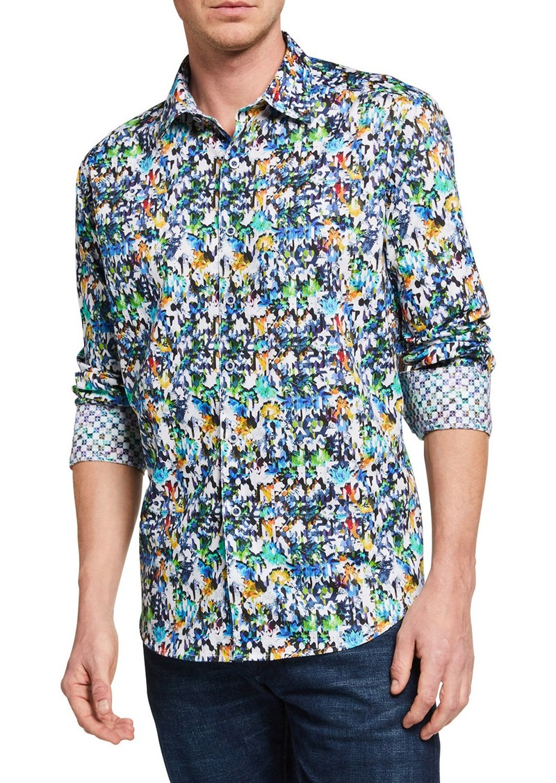Robert Graham Men's Aragon Printed Long-Sleeve Sport Shirt