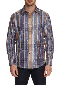 Robert Graham Men's Armadillo Lair Graphic Sport Shirt