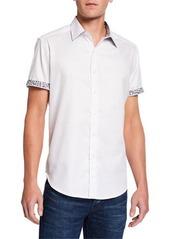 Robert Graham Men's Ash Grove Diamond Flower-Print Sport Shirt