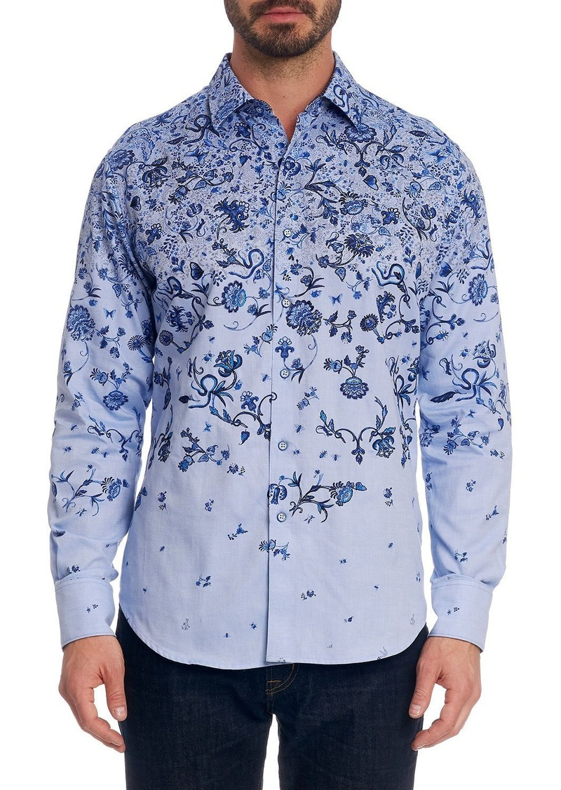 Robert Graham Men's Avo Floral-Print Sport Shirt