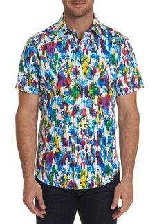 Robert Graham Men's Azimuth Abstract Print Sport Shirt