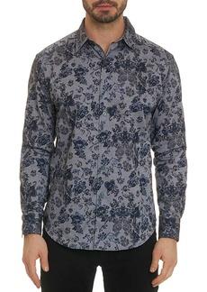 Robert Graham Men's Barker Oxford Floral Classic-Fit Sport Shirt